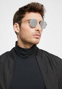 Emporio Armani - Sunglasses - matte silver-coloured - 1