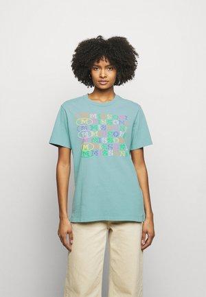 T-Shirt print - mottled teal