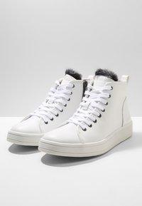 Calvin Klein - SOLEDAD - High-top trainers - white - 3