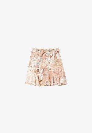 MIT PRINT - A-line skirt - stone