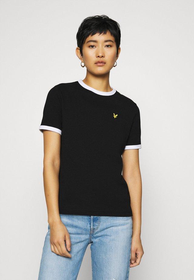 RINGER  - Print T-shirt - jet black