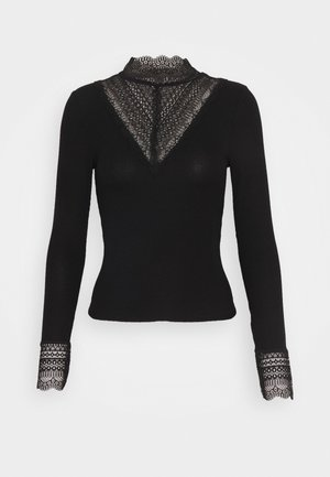 ONLTILDE HIGHNECK - Long sleeved top - black