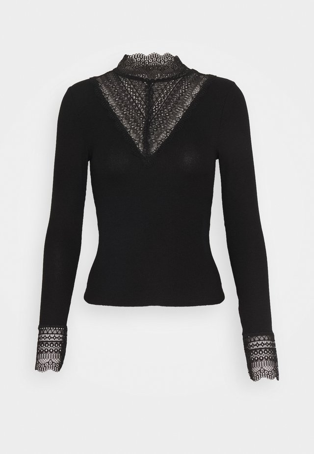 ONLTILDE HIGHNECK - Long sleeved top - black