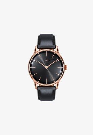 UHR SERENITY NOIR BLACK LEATHER 32MM - Horloge - sunray black