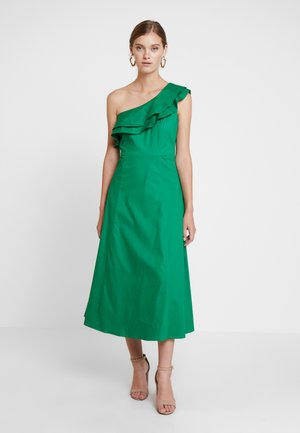 ONE SHOULDER VALANCE DRESS - Maxi dress - secret garden green