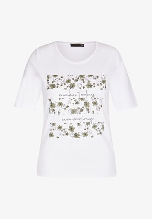 MIT GLITZERDETAILS  - Print T-shirt - weiãŸ