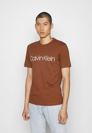 FRONT LOGO - T-shirt print - brown