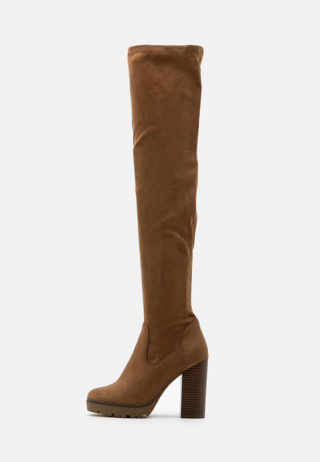 ONLTAYA LIFE - High heeled boots - sand