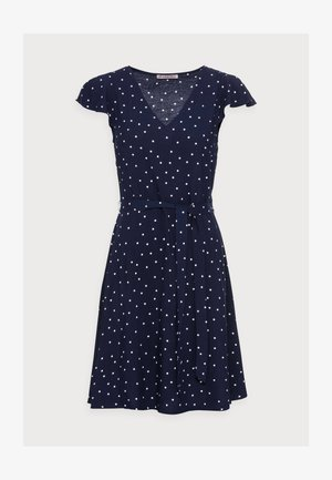 WOVEN VOLANT DRESS - Day dress - blue