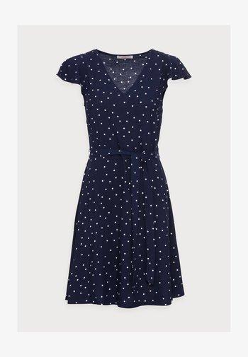 WOVEN VOLANT DRESS - Vestido informal - blue