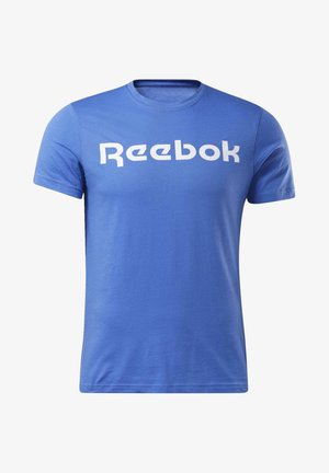 GRAPHIC SERIES LINEAR LOGO TEE - Print T-shirt - Blue