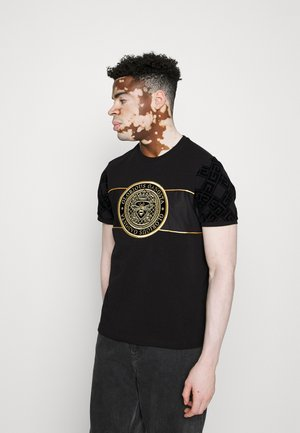 MARCO - T-shirt con stampa - black/gold