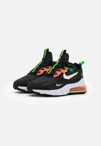 Nike Sportswear - AIR MAX 270 REACT UNISEX - Sneakers laag - black/white/green strike/flash crimson/blue fury - 1