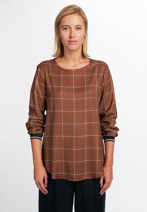 MODERN CLASSIC - Blouse - brown, white, black