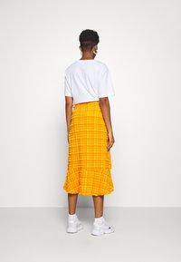 Monki - LANE SKIRT - Wrap skirt - orange - 2