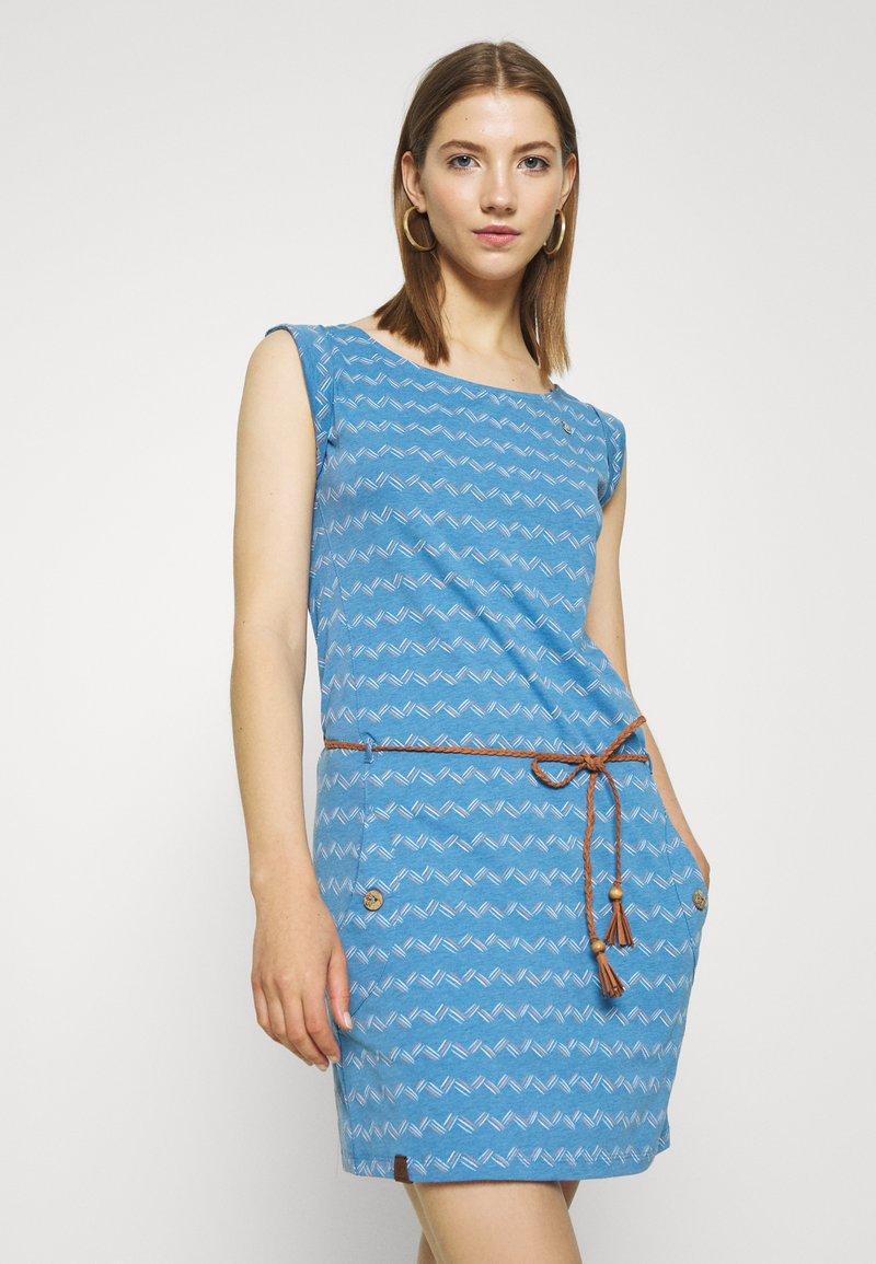 Ragwear - ZIG ZAG - Jersey dress - blue