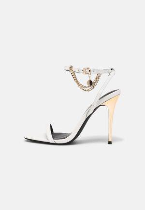 LEATHER - Sandaler med høye hæler - white