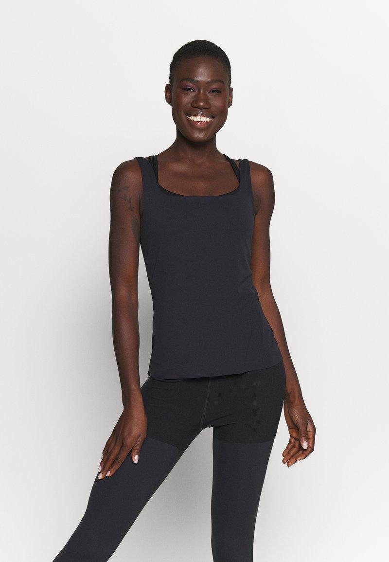 Nike Performance - THE YOGA LUXE TANK - Top - black/dark smoke grey
