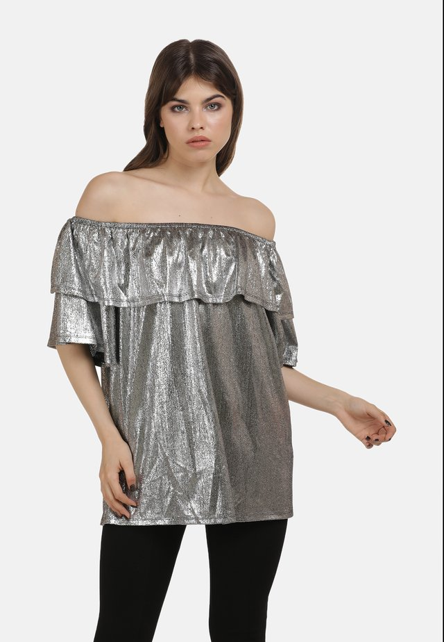 Blouse - silber