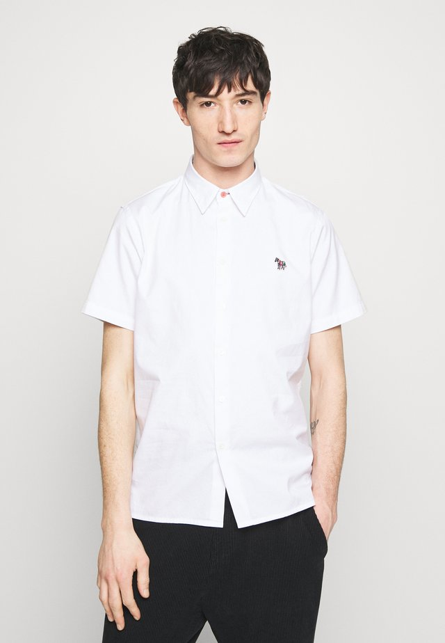 MENS CASUAL FIT BADGE - Camicia - white