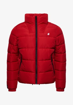 NON HOODED SPORTS PUFFER - Winter jacket - risk red