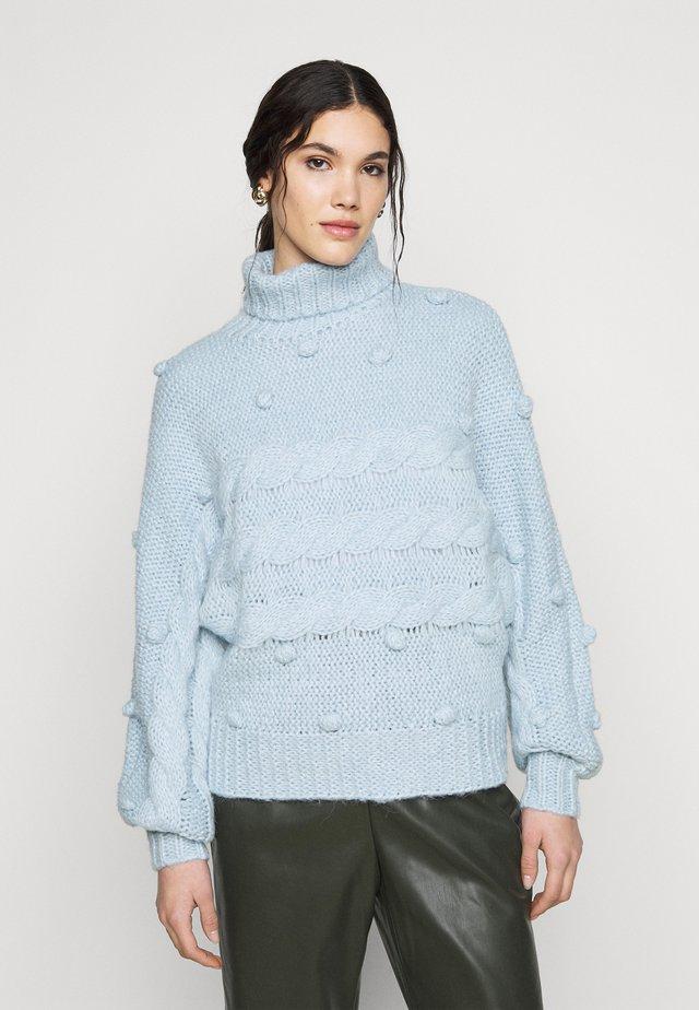 PCDARPER ROLL NECK  - Strikpullover /Striktrøjer - light blue