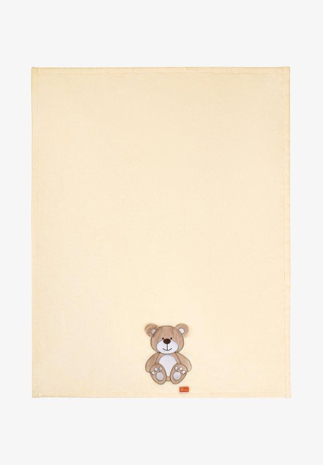 Manta de bebé - ecru bear