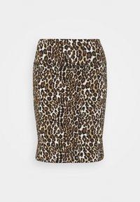 Kaffe - KAJES PENNY SKIRT - Mini skirt - classic sand/black - 0