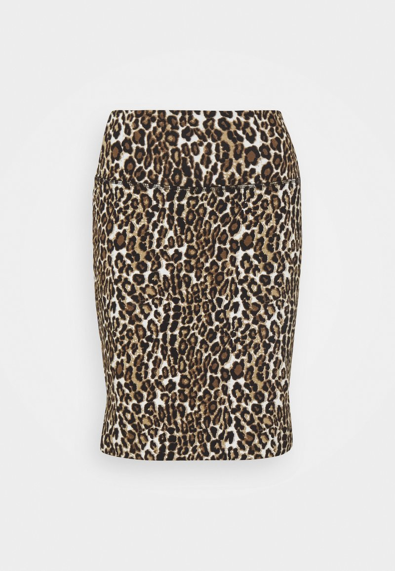 Kaffe - KAJES PENNY SKIRT - Mini skirt - classic sand/black