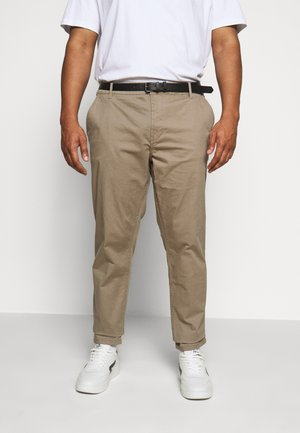 STRETCH WITH BELT - Chino - tan