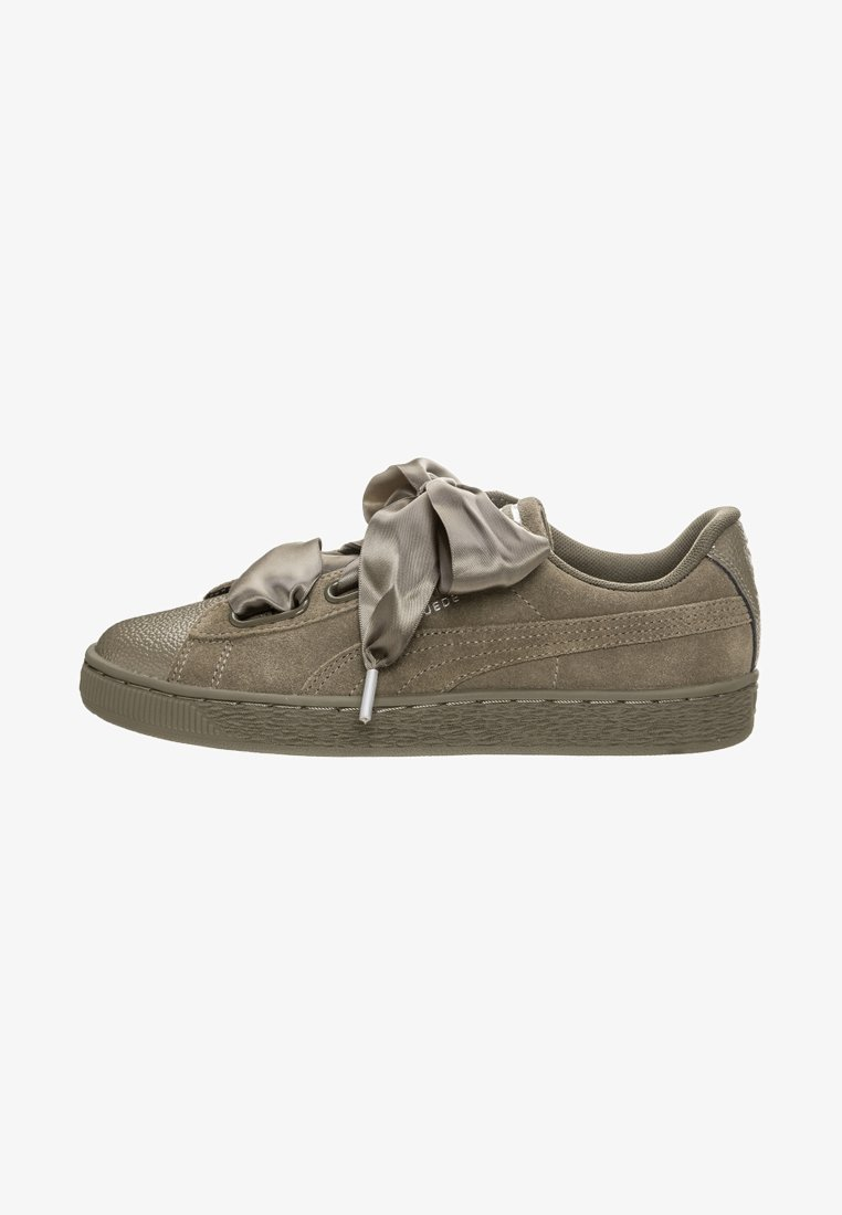 Puma - SUEDE HEART BUBBLE  - Trainers -  braun / silber
