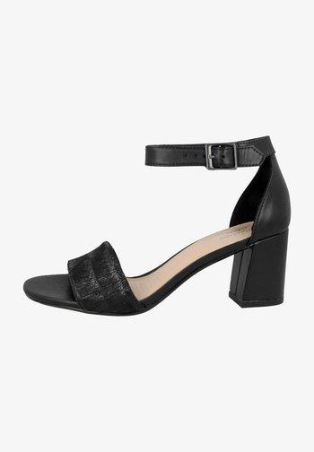 Sandals - black interest leather combi