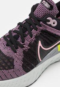 Nike Performance - REACT INFINITY RUN FK 2 - Neutral running shoes - violet dust/elemental pink/black/cyber - 4