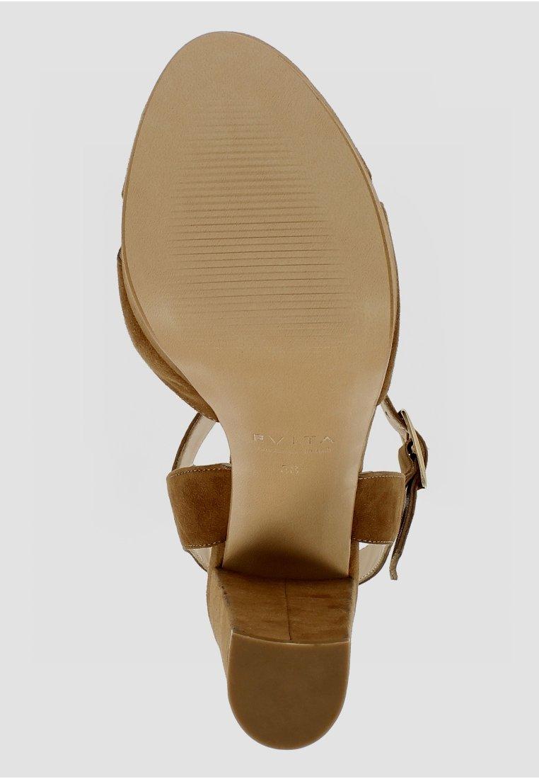 Evita LANA - Sandalen met hoge hak - cognac - Damesschoenen Hot Koop