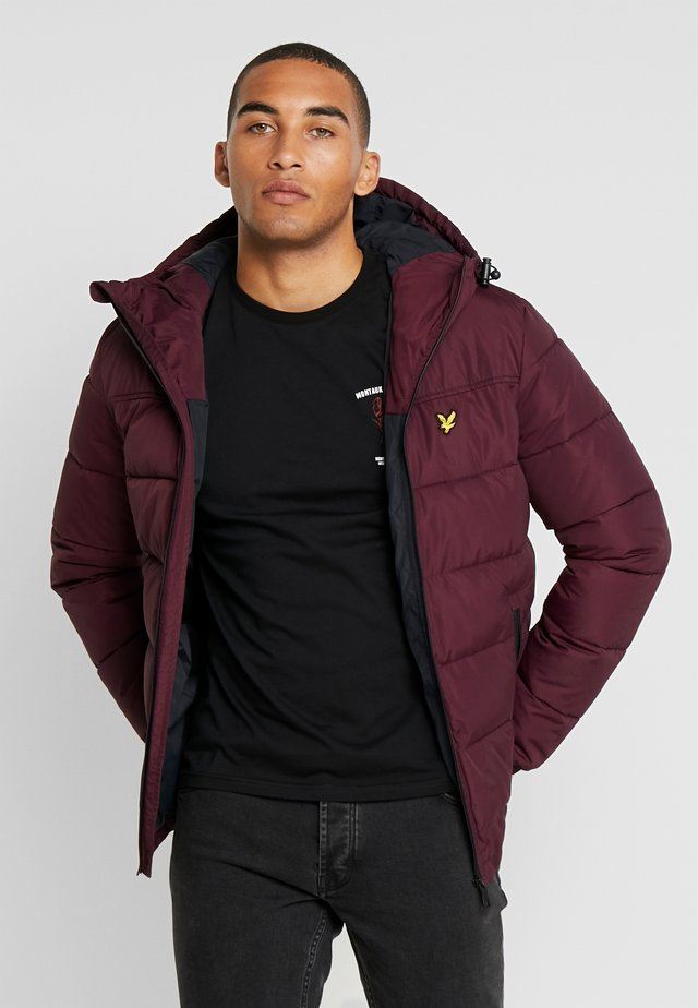 WADDED JACKET - Vinterjakke - burgundy
