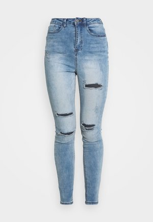 SINNER WAISTED AUTHENTIC RIPPED - Vaqueros pitillo - blue