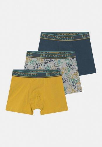 3 PACK - Pants - hellgrau melange