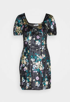 LADIES DRESS FLORAL - Day dress - black