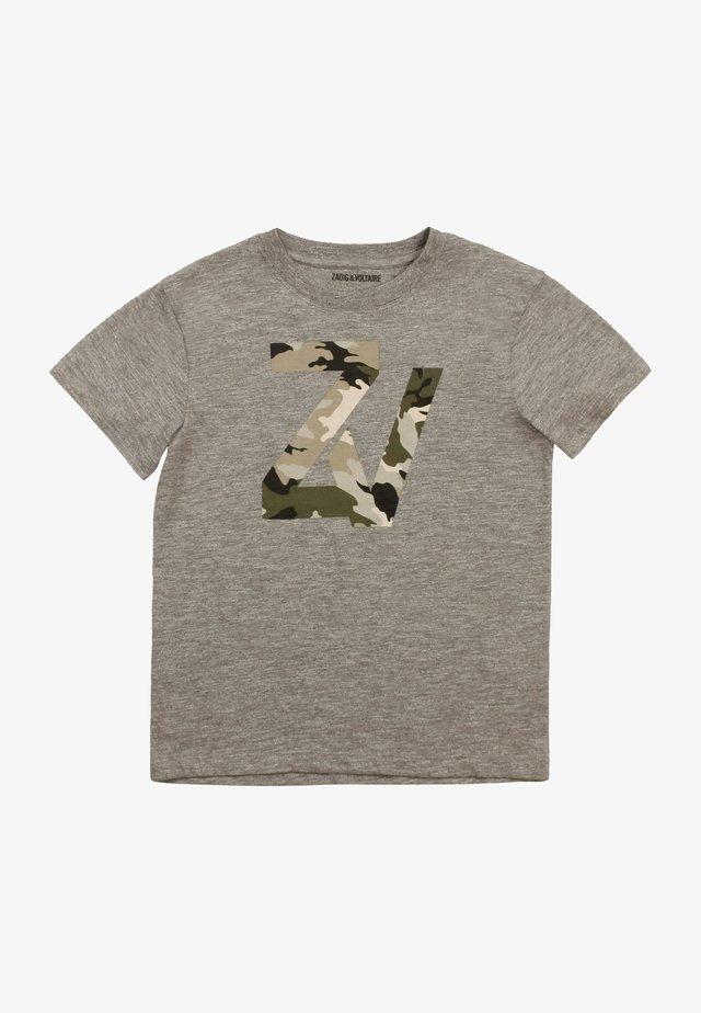 T-shirt print - gris chine