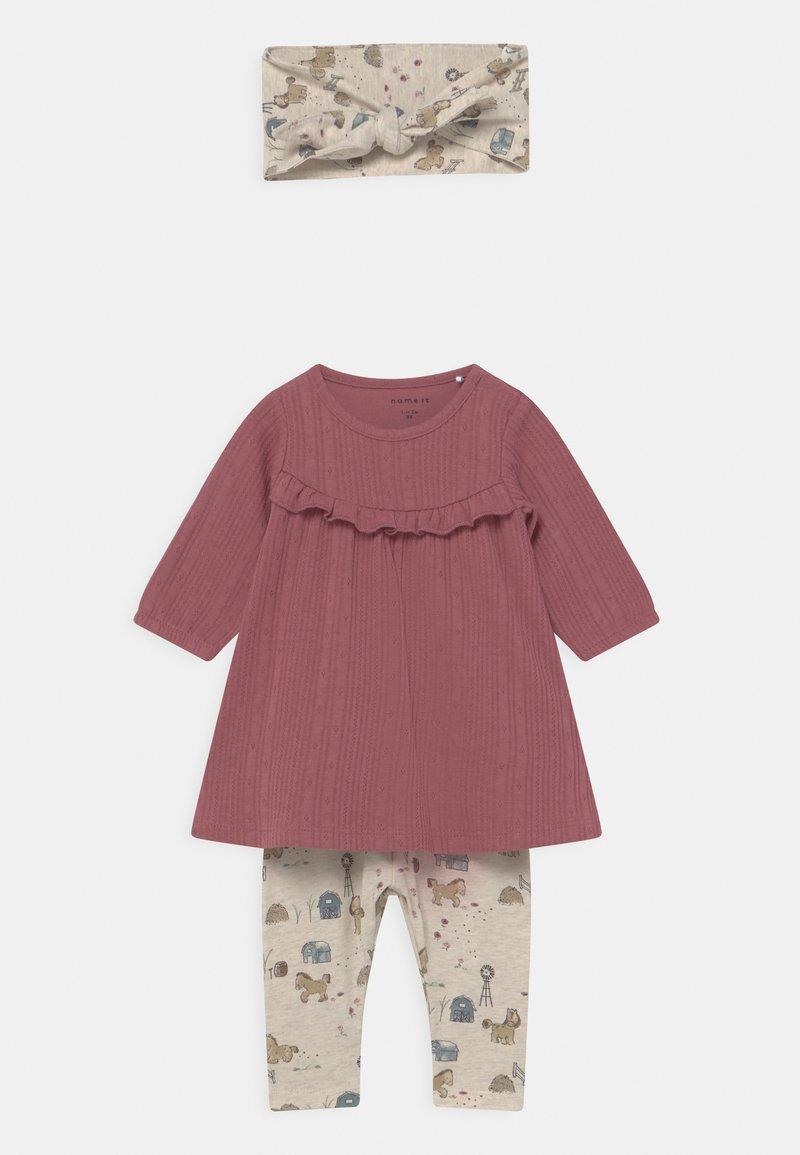 Name it - NBFLUISE GIFT SET - Leggings - Trousers - deco rose