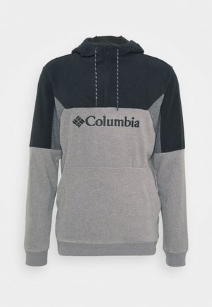 LODGEII HOODIE - Sweat à capuche - city grey heather/black/shark heather