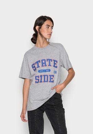 RELAXED CITY PRINT TEE - Print T-shirt - light grey melange