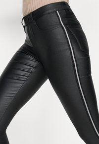 VILA PETITE - VICOMMIT COATED PANT - Pantalon classique - black/silver - 5