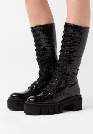 VIDA - Platform boots - schwarz