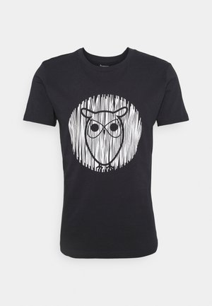 ALDER OUTLINE TEE - Camiseta estampada - total eclipse