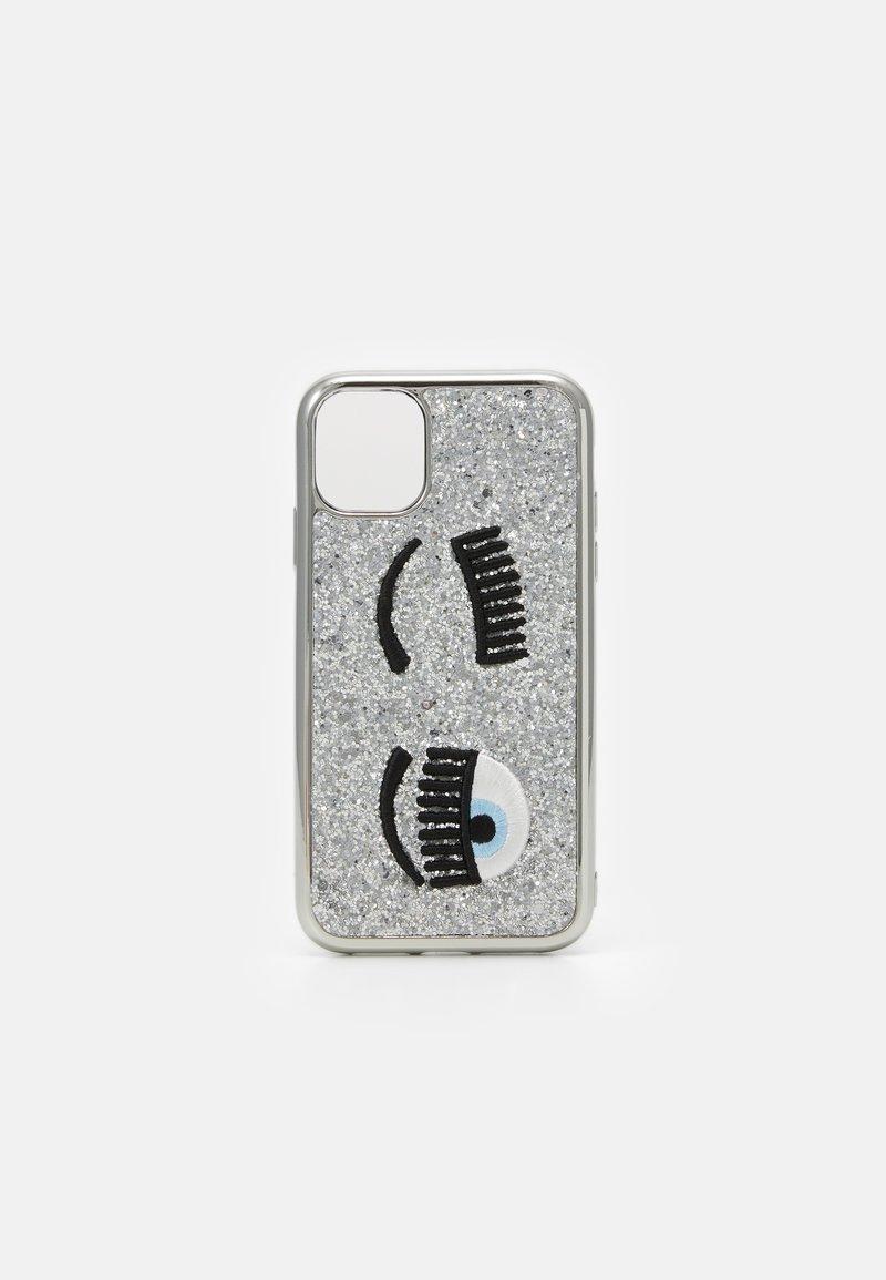 CHIARA FERRAGNI - GLITTER FLIRTING CASE IPHONE 11 - Phone case - silver-coloured