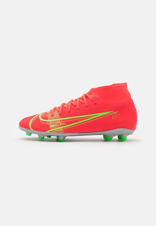 MERCURIAL 8 CLUB MG - Moulded stud football boots - bright crimson/metallic silver