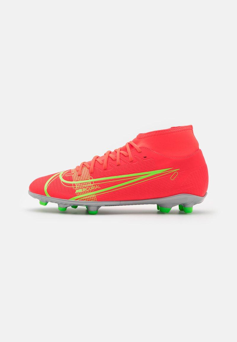 Nike Performance - MERCURIAL 8 CLUB MG - Moulded stud football boots - bright crimson/metallic silver