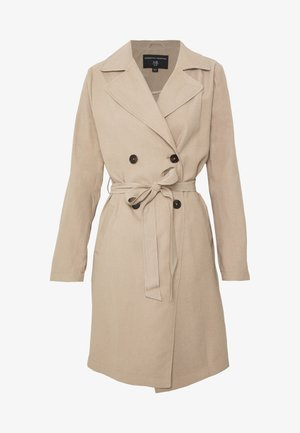 BUTTON FRONT - Trenchcoat - stone