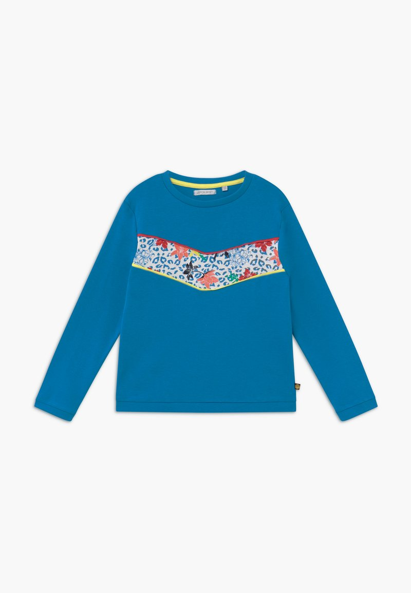 Lemon Beret - SMALL GIRLS  - Longsleeve - mediterranian blue